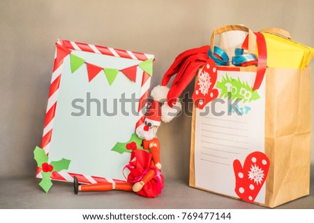 Xmas Recycled Paper Bags Presents Christmas Stock Photo Edit Now
