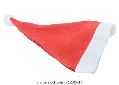 Xmas santa hat, isolated on white