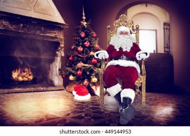 xmas time and santa claus