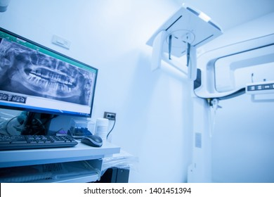 X-ray machine in the dental clinic. (make color tone)