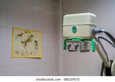 X-ray machine in veterinary hospital