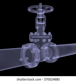 Xray of water pipe