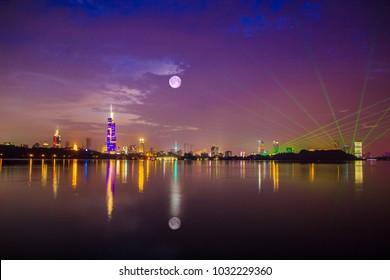 Xuanwu Lake, Nanjing City, Jiangsu Province, urban landscape architecture