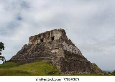 XUNANTUNICH / BELIZE - JANUARY 2015: Ruins of the ancient Mayan city Xunantunich, Belize