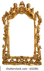 XXL size! isolated  empty picture frame with clipping path!!!