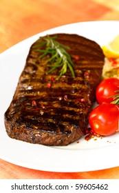 XXX - Big New York Strip Steak with Salad