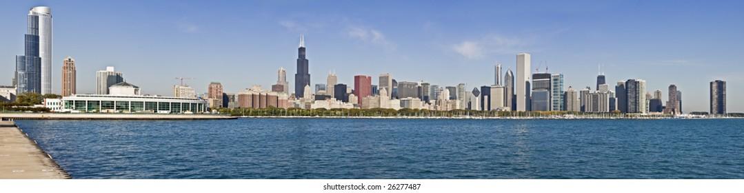 XXXL panorama of downtown Chicago