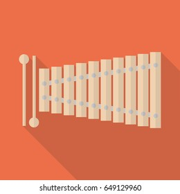 The xylophone image. Flat design