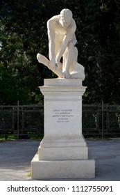 Xylothraustis Statue at Panathenaic Stadium