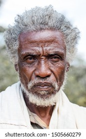 Yabelo, ETHIOPIA - DECEMBER 28, 2010: Portrait of an unidentified old man of the Gucci tribe  in a remote village in the South of Ethiopia.