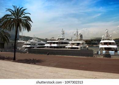 Yacht at Barcelona's port