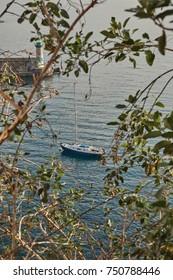 Yacht, Bastia port, Corsica, France