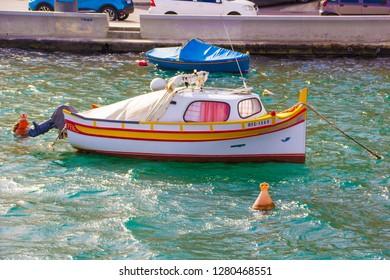Yacht boats in Malta