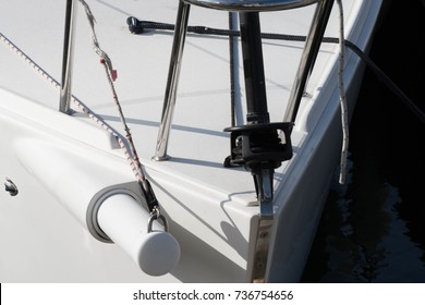 yacht with a bowsprit that retracts into the body of the boat