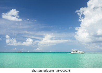 Yacht in the Caribbean Sea