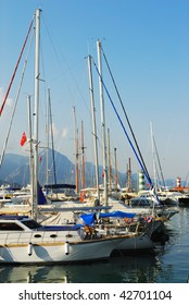 Yacht club in Kemer, Turkey, Anatalya