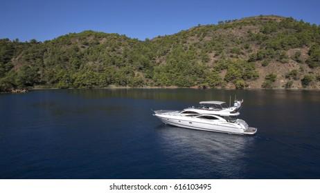 A Yacht in Gocek - Aegean Coast of Turkey