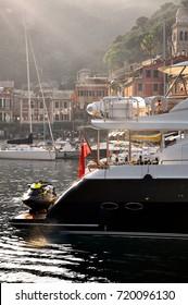 Yacht in the marina, Italy.