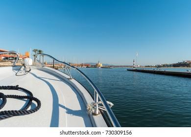 Yacht marina in Portimao. Algarve coast, Portugal.