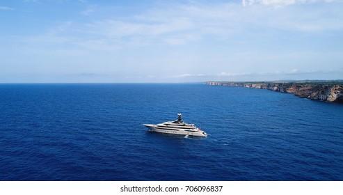 Yacht in the Mediterranean Sea