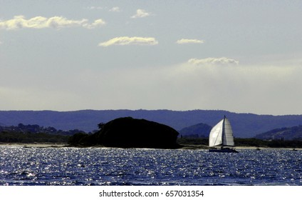 Yacht of Mudjimba Island, Queensland, Australia