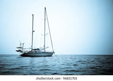 yacht in the ocean at Surin island, Thailand