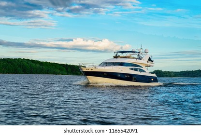 Yacht on Onega Lake and the Nature of Karelia, Kizhi, Russia