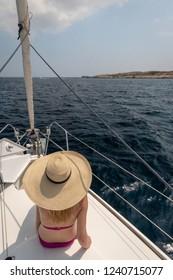 Yacht on the sea in Malta