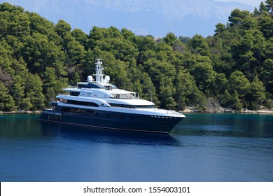 yacht in Polace, island Mljet, Croatia