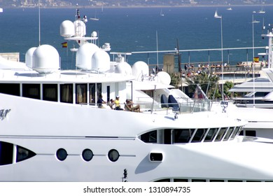 Yacht in Port of Barcelona. Spain