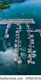 Yacht Port in Sozopol, Aerial Drone Photo
