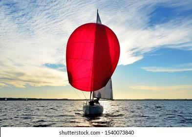 yacht race sky cloud sailing summer