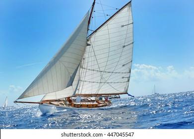 Yacht racing.