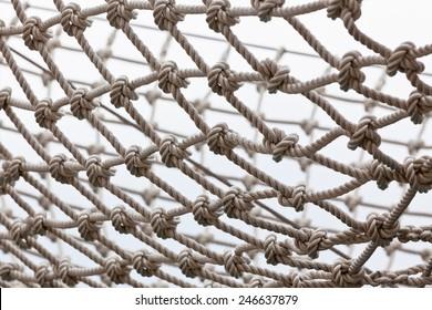 Yacht Safety Net. Horizontal shot
