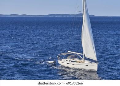 Yacht Sailing on the Adriatic Sea