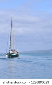 A yacht in the sea for holiday.Vanuatu