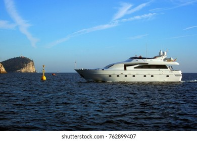Yacht in the sea of Portovenere