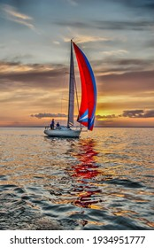 The yacht takes part in competitions in sailing in the sea