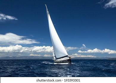 Yachting, sailing regatta. Luxury yachts.