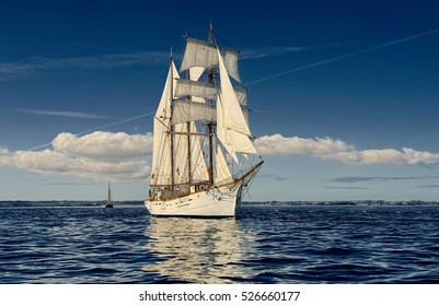 Yachting. Sailing. Sailing ship. Sail