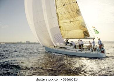 Yachting. Sailing yacht race. Sailing