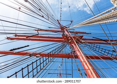 Yachting, yacht, rope.