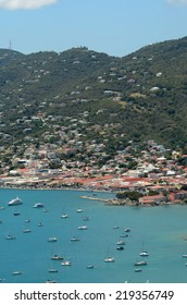 Yachts in the bay of ST Thomas, US Virgin Islands