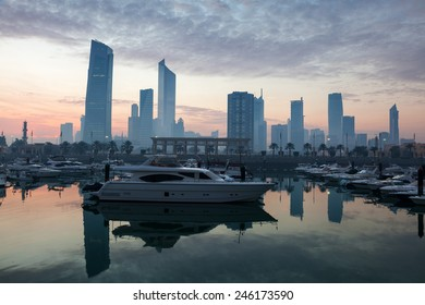 Yachts and boats at the Sharq Marina in Kuwait City