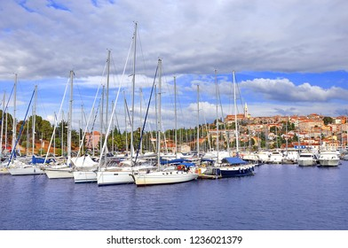 Yachts in the Harbor of Vrsar. Croatia