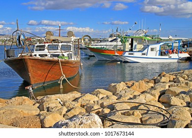 Yachts in Harbour of Paphos, the greek part of Cyprus