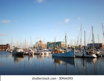 yachts in Hull marina