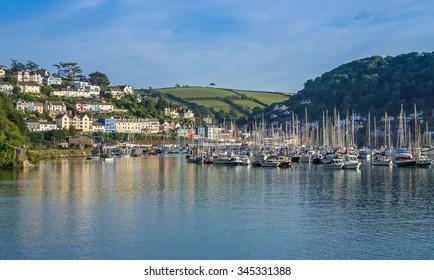 Yachts at Marina on the River Dart at Kingswear, Devon, United Kingdom