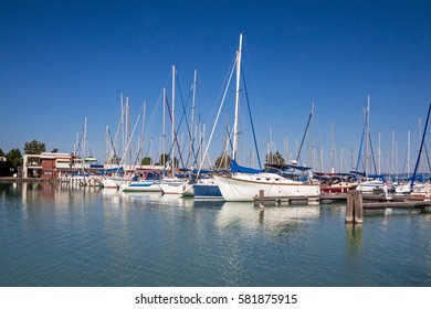 Yachts on the lake Balaton, Siofok, Hungary