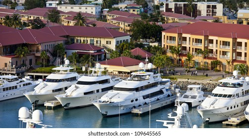 yachts parked in st thomas, us virgin islands